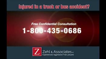 Zehl & Associates TV Spot, 'Truck or Bus Accident Injury' - Thumbnail 3