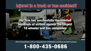 Zehl & Associates TV Spot, 'Truck or Bus Accident Injury' - Thumbnail 5