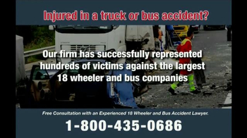 Zehl & Associates TV Spot, 'Truck or Bus Accident Injury' - Thumbnail 6