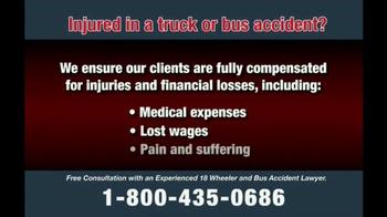 Zehl & Associates TV Spot, 'Truck or Bus Accident Injury' - Thumbnail 8