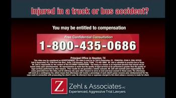 Zehl & Associates TV Spot, 'Truck or Bus Accident Injury' - Thumbnail 9