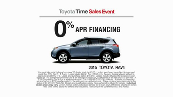 2015 Toyota RAV4 TV Spot, 'Toyota Time Sales Event: Wave' - Thumbnail 3