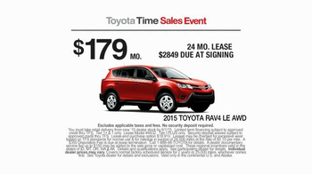 2015 Toyota RAV4 TV Spot, 'Toyota Time Sales Event: Wave' - Thumbnail 4
