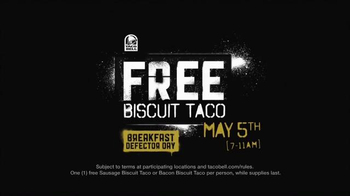Taco Bell Breakfast Defector Day TV Spot, 'Free Biscuit Taco' - Thumbnail 9