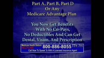 Medicare Health Reform Hotline TV Spot, 'Significant Benefits' - Thumbnail 3