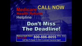 Medicare Health Reform Hotline TV Spot, 'Significant Benefits' - Thumbnail 9