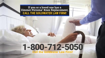 Goldwater Law Firm TV Spot, 'Knee Replacement Patients'