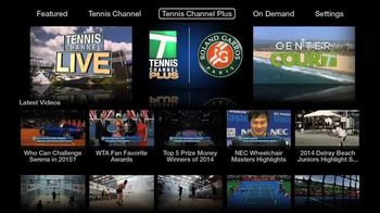 Tennis Channel Everywhere TV Spot, 'Now Playing on Apple TV' - Thumbnail 3