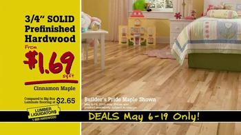 Lumber Liquidators May Deals TV Spot, 'Hardwood Floors For Less' - Thumbnail 6