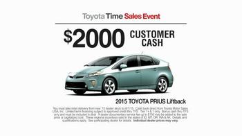 2015 Toyota Prius Liftback TV Spot, 'Toyota Time Sales Event: Drone' - Thumbnail 6
