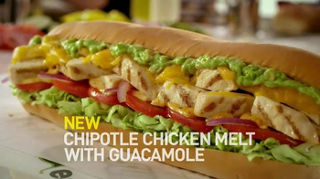 Subway Chipotle Chicken Melt With Guacamole TV Spot, 'Guac Your Socks Off' - Thumbnail 8