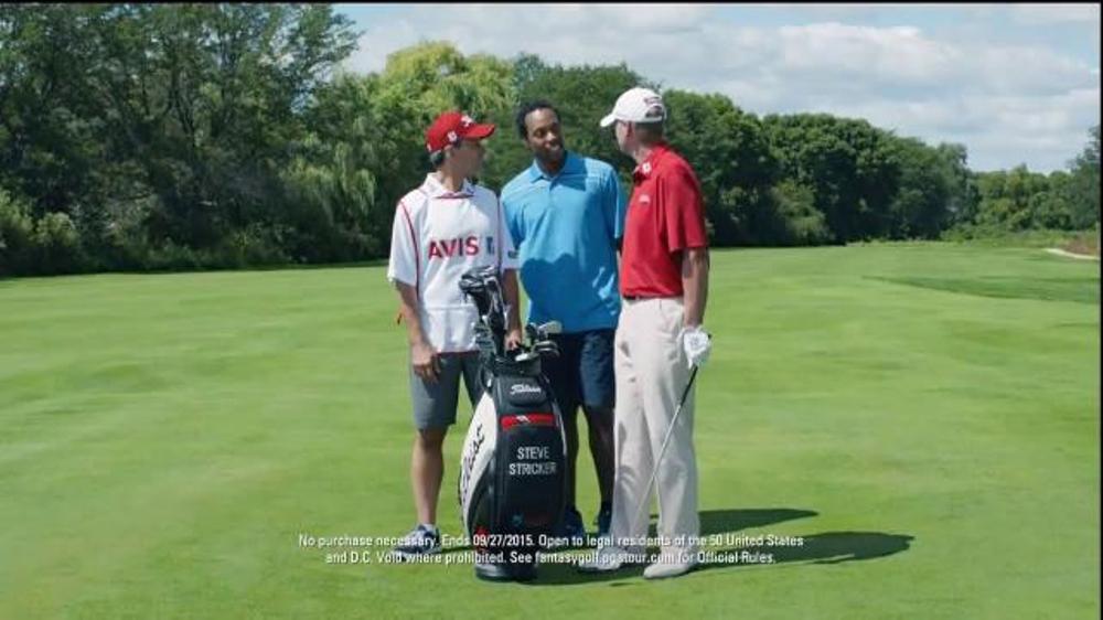 pga tour fantasy golf driven by avis tv commercial 39 caddie 39 feat steve stricker. Black Bedroom Furniture Sets. Home Design Ideas