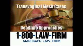 1-800-LAW-FIRM TV Spot, 'Transvaginal Mesh Deadline' - Thumbnail 4