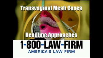 1-800-LAW-FIRM TV Spot, 'Transvaginal Mesh Deadline' - Thumbnail 5