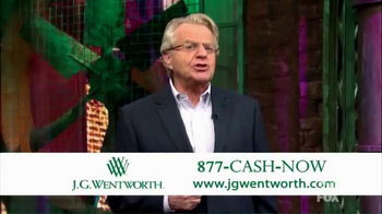 J.G. Wentworth TV Spot, \'Jerry Springer\'