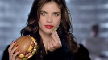 Carl's Jr. El Diablo TV Spot, 'Too Hot to Handle' Featuring Sara Sampaio - Thumbnail 3