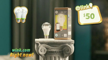 Wink GE Link Bulbs TV Spot, 'Control Your Lights From Anywhere' - Thumbnail 3