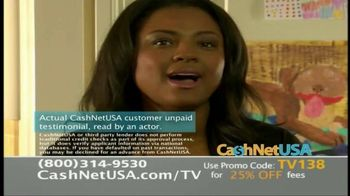 CashNetUSA TV Spot, 'Customer Testimonials'