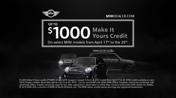 MINI USA MINI For You April Sales Event TV Spot, 'No Boring MINI' - Thumbnail 7