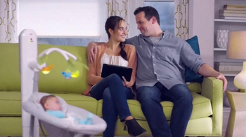 Fisher Price Smart Connect Cradle N' Swing TV Spot, 'Sooth from a Distance' - 1176 commercial airings