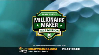 DraftKings Fantasy Golf TV Spot, 'Millionaire Maker' - Thumbnail 6