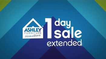 Ashley Furniture Homestore 1 Day Sale TV Spot, 'Extended' - 80 commercial airings