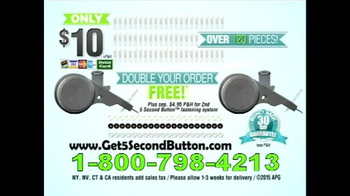 5 Second Button TV Spot - 5 commercial airings