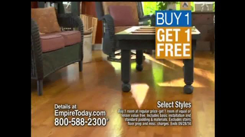 Empire Today Buy 1 Get 1 Free Sale TV Spot