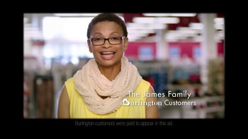 Burlington Coat Factory TV Spot, \'The James Family\'