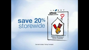 La-Z-Boy Anniversary Sale TV Spot, 'Ronald McDonald House Charities' - Thumbnail 2