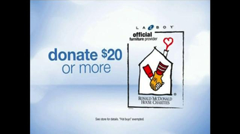 La-Z-Boy Anniversary Sale TV Spot, 'Ronald McDonald House Charities' - Thumbnail 3