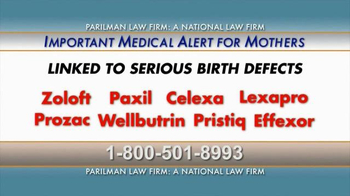 Parilman & Associates TV Spot, 'Medical Alert for Mothers'