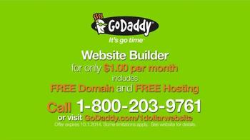GoDaddy Website Builder TV Spot, '$1 Per Month' - Thumbnail 10