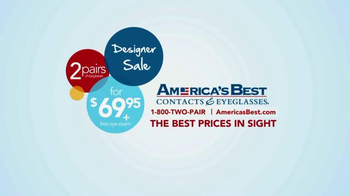 America's Best Contacts and Eyeglasses Designer Sale TV Spot - Thumbnail 9