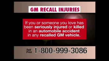 Pulaski & Middleman TV Spot, 'GM Recall Injuries'