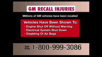 Pulaski & Middleman TV Spot, 'GM Recall Injuries' - Thumbnail 6