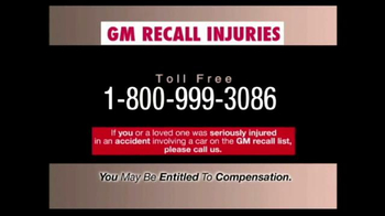 Pulaski & Middleman TV Spot, 'GM Recall Injuries' - Thumbnail 7