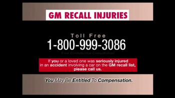 Pulaski & Middleman TV Spot, 'GM Recall Injuries' - Thumbnail 8