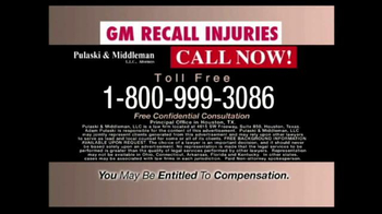 Pulaski & Middleman TV Spot, 'GM Recall Injuries' - Thumbnail 9