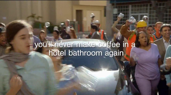 Extended Stay America TV Spot, 'Bathroom Coffee' Song by Twisted Sister - Thumbnail 6