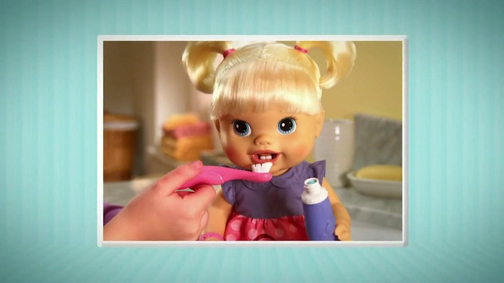 Baby Alive Doll Kelsey Brushes Her New Teeth - YouTube  |Baby Alive New Teeth