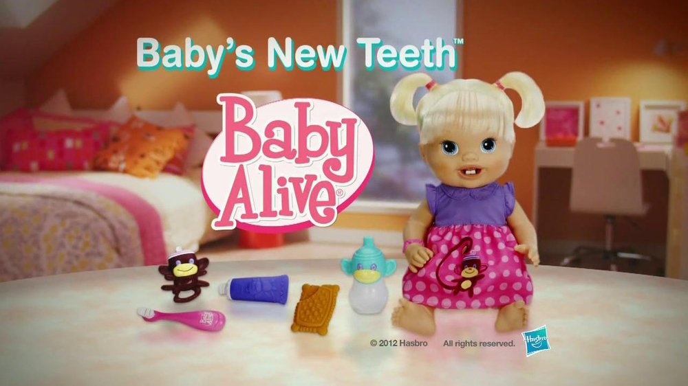 Hasbro Tv Commercial For Baby Alive Baby S New Teeth
