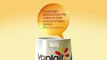 Yoplait Light Banana Cream Pie TV Spot, 'Kelly's Tweet' - 110 commercial airings