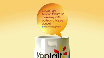 Yoplait Light Banana Cream Pie TV Spot, 'Kelly's Tweet' - 110 commercial airings