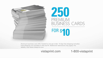 Vistaprint TV Spot For Premium Business Cards