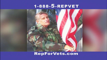 The Rep for Vets TV Spot For Rep For Vets