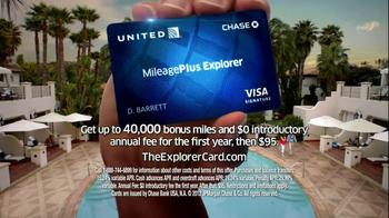 Chase United MileagePlus Explorer Card TV Spot - Thumbnail 9
