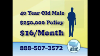 Listen Up America TV Spot, 'Life Insurance Policies' - Thumbnail 8