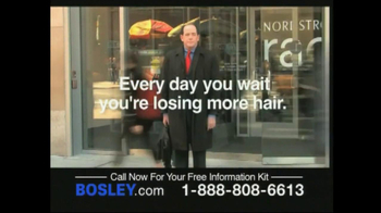 Bosley TV Spot For Permanent Solution