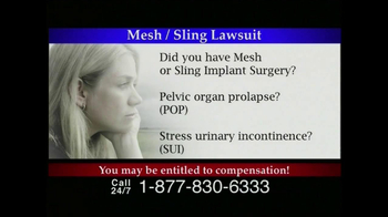 Lee Murphy Law TV Spot for Mesh Or Sling  - Thumbnail 2